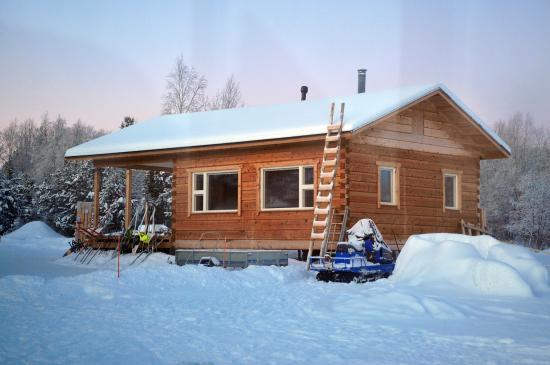 Picture of lake inari mobile cabins inari for Modular lake homes