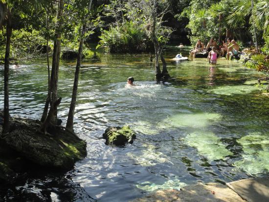 Cenote Azul: Un lugar muy concurrido