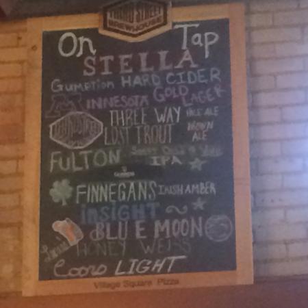 Village Square Resturant: Beer list
