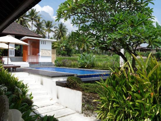 The Samara: View of the pool from villa 6