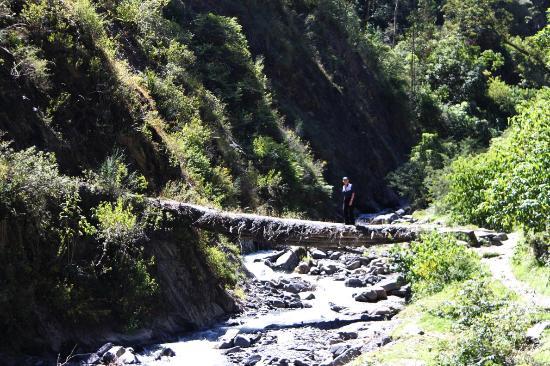 Sorata, Боливия: Flussübergang