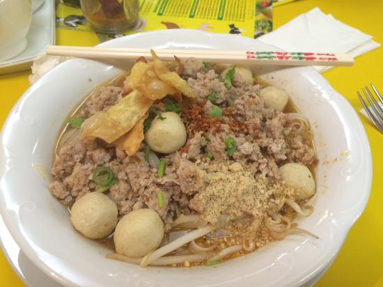 Kwetiau noodle soup with pork meatballs picture of for Ayutthaya thai cuisine bar