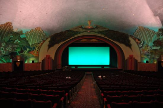 Catalina Island Casino: Movie screen