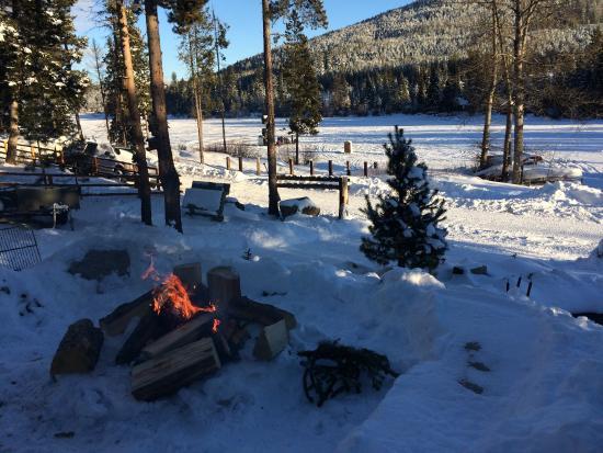Princeton, Kanada: Winter bonfire