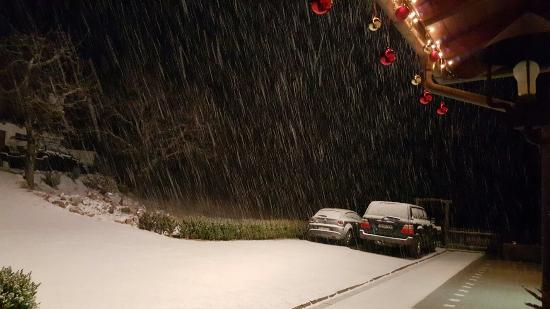 Renon, İtalya: Nevica!!!
