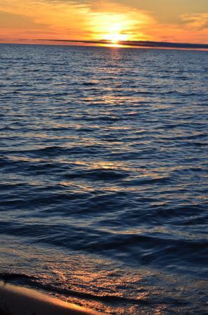 Carp Lake, MI: beach