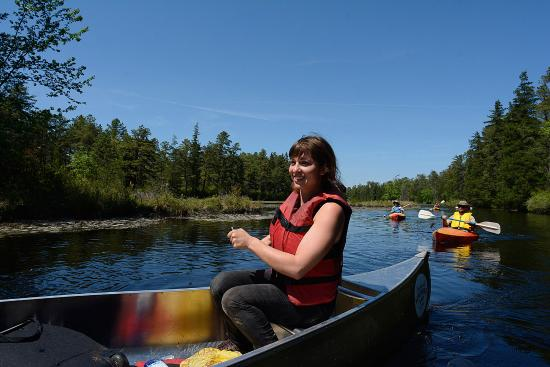 Shamong, NJ: Canoeing and kayaking on the Batsto River in the New Jersey Pine Barrens.