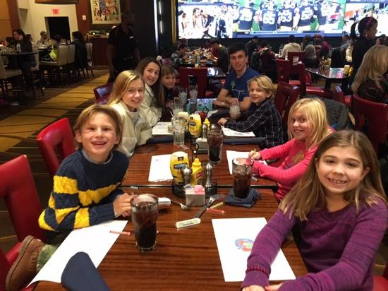 Very happy kids table check out that huge tv picture of national pastime sports bar and grill very happy kids table check out watchthetrailerfo