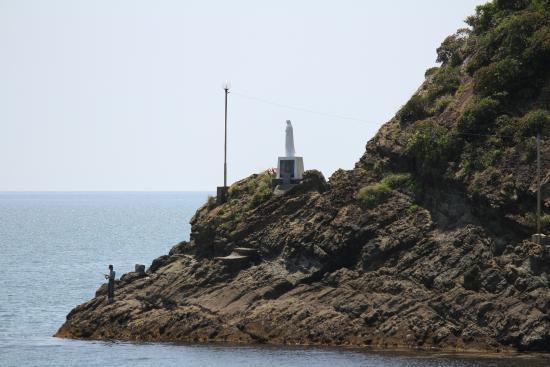 Maria Statue Over the Ocean