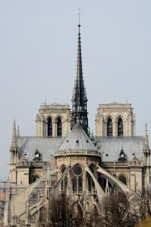 Foto de catedral de notre dame par s notre dame exterior for Exterior notre dame