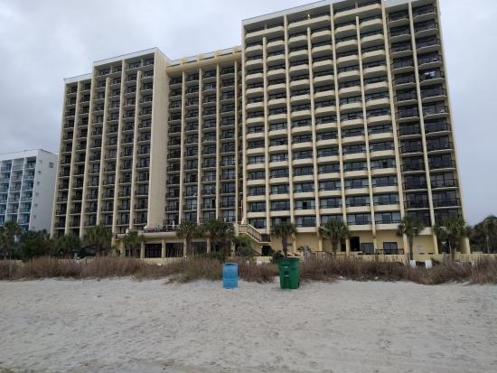 Pinnacle Building From The Beach Picture Of Compass Cove