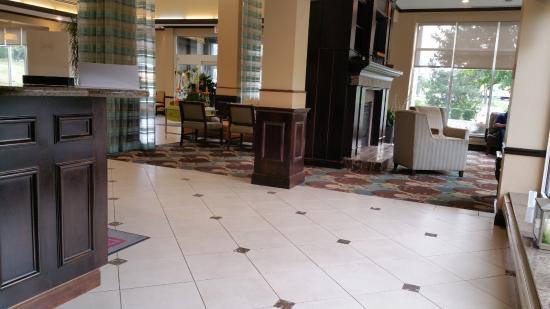 Lobby Area at Hilton Garden Inn AlbanySUNY Area Picture of