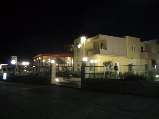 Golden Bay Hotel: Night view, taken from street
