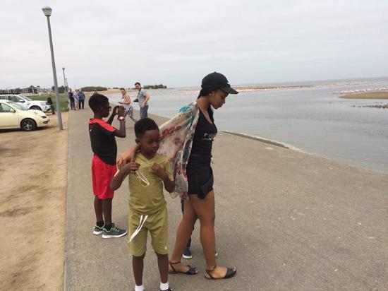 Protea Hotel Pelican Bay: My kids having fun along the Pelican Bay