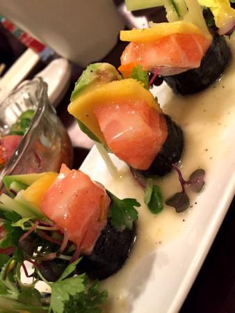 Bop N Sushi: salmon carpccio