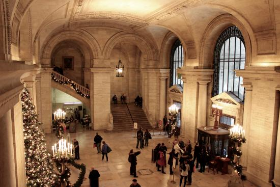 Foyer Architecture Library : Main foyer during christmas time picture of new york