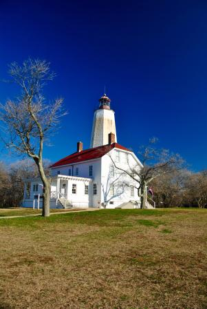 Middletown, Нью-Джерси: Beautiful day at Sandy Hook Lighthouse