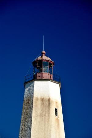 Middletown, Нью-Джерси: Up close at Sandy Hook Lighthouse