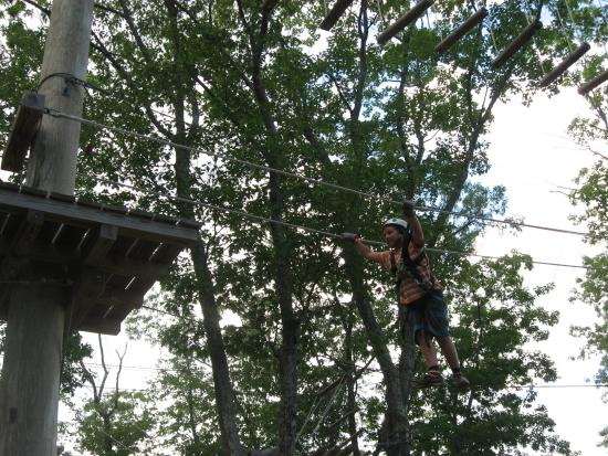 Windham, ME: Ropes course out back