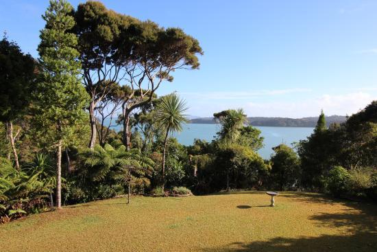 Opua, نيوزيلندا: Aussicht von der Terrasse