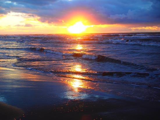千里浜なぎさドライブウェイ, きれいな夕日♪