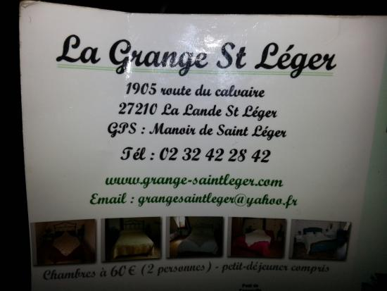 La Grange St Léger : Adresse