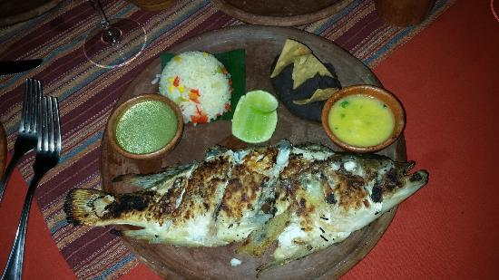 Fresh grilled fish from the lake delicious