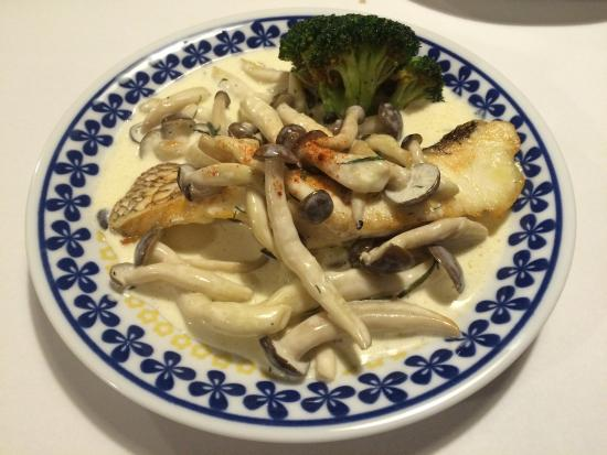 Edohara Pension: Fish and mushroom.