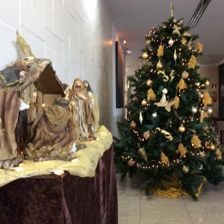 Hotel Lanzarote Village Lovely Christmas Tree With Nativity Scene