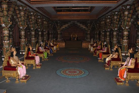 Film set of an airport inside the Ramoji film studio