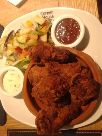Leeming Bar, UK: Spicy wings, which were actually drumsticks.