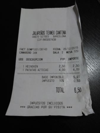 Jalapenos: Tiquet