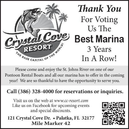 Crystal Cove Riverfront Resort : Voted Best Marina 3 Years in a Row