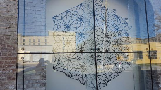 Savannah College of Art and Design, rail ties art