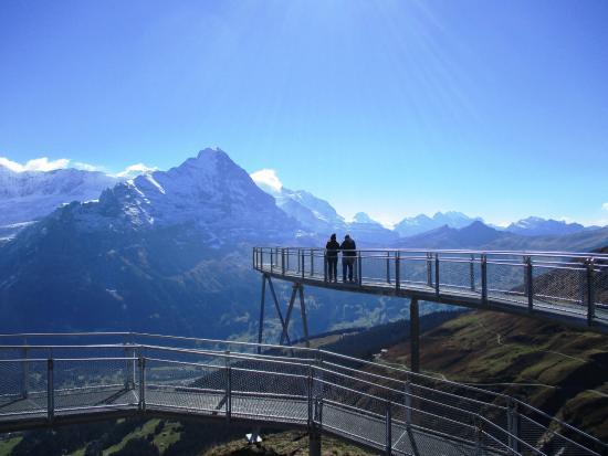 Grindelwald, Suiza: The observation platform at First