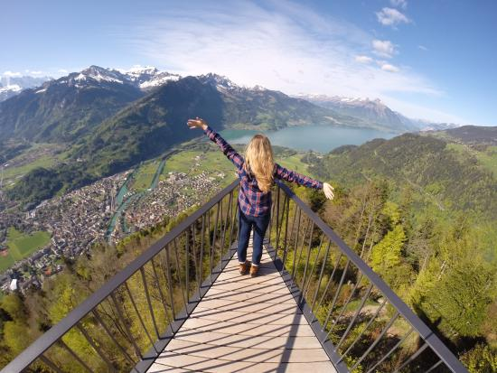 Enjoying The View Of Interlaken And The Alps Picture Of