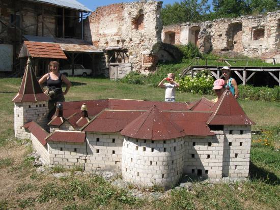 Berezhany, ยูเครน: Макет замка на территории замка