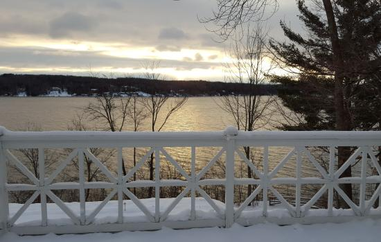 North Hatley, Canada: Vue sur le lac