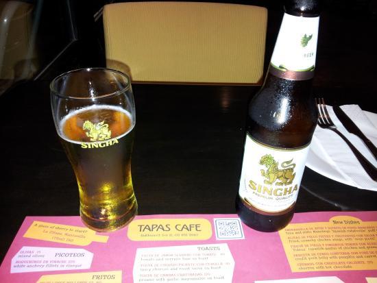 Tapas Cafe: Local Thai beer
