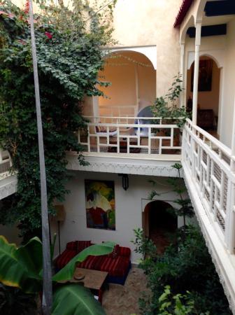 Dar Zouar: Fra 2. etasje og gårdsrommet