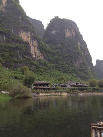 Yangshuo Mountain Retreat: View from the River when rafting
