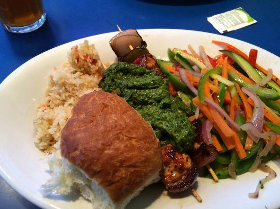 Blue Plate Diner: Chicken chimichurri kabob