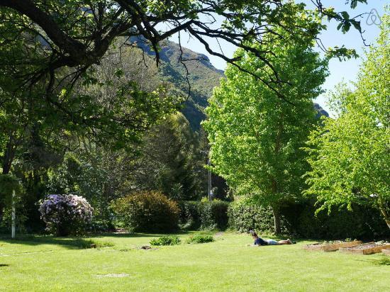 Kingston, Nieuw-Zeeland: One of our guests enjoying the sunny garden