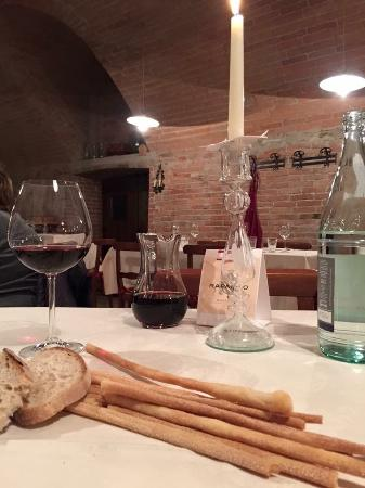 All'Ombra del Pero: In a well selected restaurant nearby