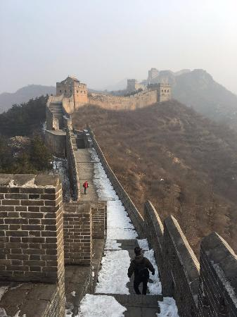 A view from a watchtower on the Jinshanling Great Wall