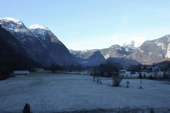 Haus Rye: View towards Hallstatt from our room.