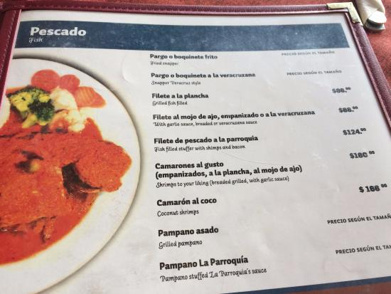 Campeche Mexico Restaurants Menu