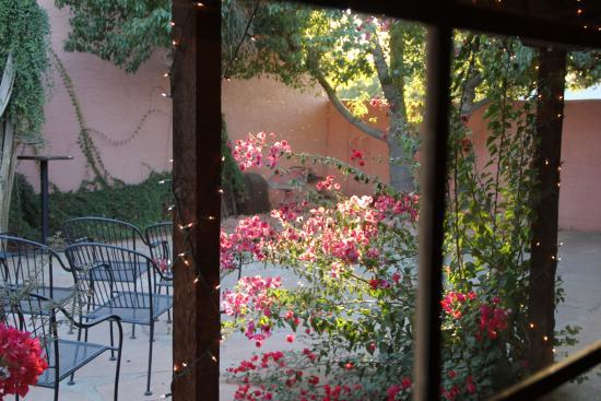 BeDillon`s Restaurant & Cactus Garden : The courtyard for the wedding