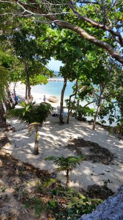 Maya Key: The view from the pool of the beach