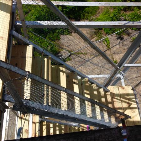 Hadley, NY: Tower Stairs